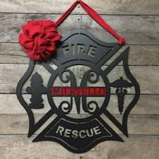 personalized maltese cross firefighter monogram door wreath wall decor on maltese cross firefighter metal wall art with metal personalized maltese cross firefighter wall art door wreath