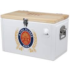 miller lite retro chest cooler beer coolers