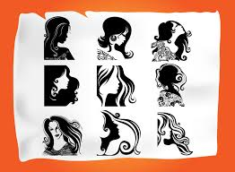 Vectors Silhouettes Hair Salon Vector At Getdrawings Com Free For Personal Use Hair