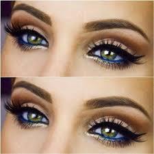 colorful eyeliner prom makeup look