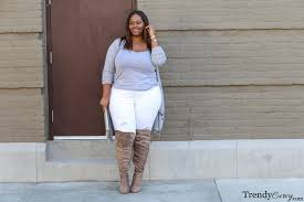 taupe over the knee boots above found here
