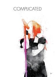 No262 MY Avril Lavigne Watercolor Music poster Digital Art by Chungkong Art