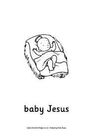 Small Picture Baby Jesus Coloring Pages Free Nativity Picture Page vonsurroquen