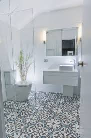 ... Bathroom, Surprising Bathroom Tile Patterns Interior Design With Mirror  And Cabinet And Toilet And Lamps ...
