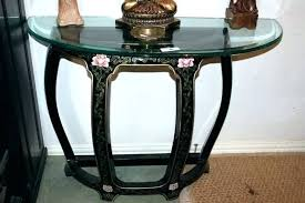 round glass top foyer table round glass top foyer table lot entry table with glass top round glass top foyer table