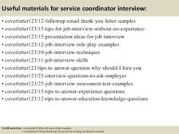 Sample Cover Letter Service Coordinator   Top   service     lbartman com
