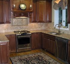 Backsplash For Dark Cabinets Kitchen Backsplash Photos With Cherry Cabinets Terrific
