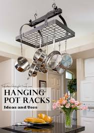 Hanging Bakers Rack Kitchen Whimsical Pot Racks Ft Stone County Iron Works And Enclume Pot