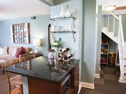 Paint For Living Room And Kitchen Brilliant Curved Walls Open Plan And Contemporary Design On