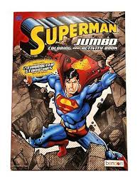 Includes puzzles and word games. 2x The World Of Marvel Superman Jumbo Coloring And Activity Book Time For Sale Online Ebay