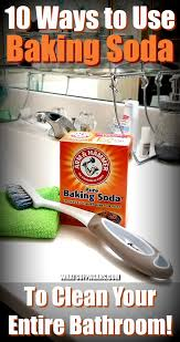 to clean the bathroom with baking soda
