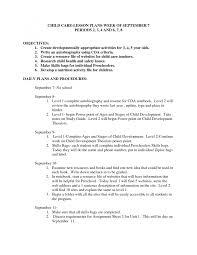 Objective Child Care Resume Objective