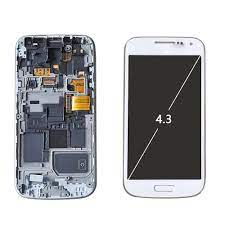 Sinbeda süper AMOLED LCD SAMSUNG GALAXY S4 Mini dokunmatik ekran Digitizer  meclisi i9190 i9192 i9195 çerçeve ile LCD ekran|Mobile Phone LCD Screens