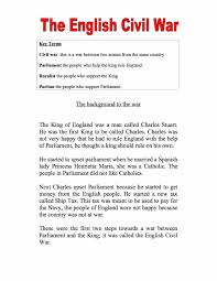 introduction to the english civil war facts information worksheet  introduction to the english civil war