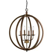 home improvement neighbor fence metal orb chandelier