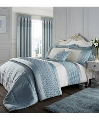 duck egg blue duvet cover set catherine lansfield roll over image to zoom in