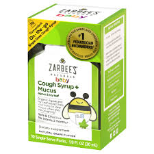 Zarbees Naturals Baby Cough Mucus Relief Syrup Natural