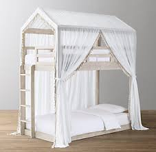 Cole Tassel Voile Canopy Bed | RH Baby & Child
