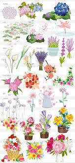 木と花の素材集 Illustratorの木と花のイラスト素材aiepsword