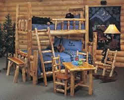 Pine Log Bedroom Furniture Log Furniture Beds Amish Pine Extra High Bed The Bunk Viking