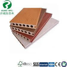 china round hole outdoor pvc co extrusion flooring china wpc decking wood plastic composite