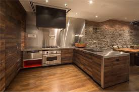 Unique Wood Wall Covering Ideas Homesfeed Kitchen With Steel Set