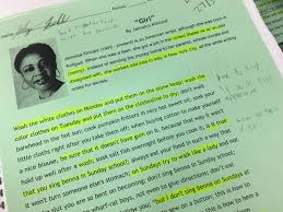 boy meets girl literature students explore kincaid s  above jalany s annotated text of girl by kincaid top jalany in his english classroom photos by justin warren