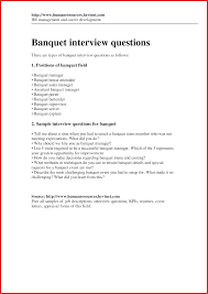 Cover Letter For Banquet Server New Server Coverletter Types Of Letter