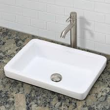 the ambre semi recessed rectangular vitreous china sink is a jewel matching the meaning of its name the low profile and deep basin will radiate in your