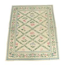 wool area rugs. Needlepoint Floral And Foliate Themed Wool Area Rug Rugs