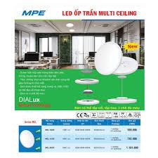 HÀNG CHÍNH HÃNG] MPE Đèn LED Ốp Trần Multi Ceiling Series MCL 10W/ 15W/ 20W  DIALux German Technology - Đèn trần