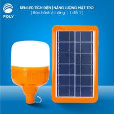 Bộ Đèn sạc tích điện + Tấm Sạc Năng lượng Mặt trời + Remote Tiết kiệm điện  đa năng dễ di duyển không thấm nước
