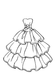 Small Picture Printable 36 Girl in Dress Coloring Page 7483 Fashion Design