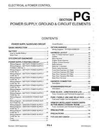 2010 nissan murano power supply, ground & circuit elements 2013 Nissan Murano Wiring Diagram 2010 nissan murano power supply, ground & circuit elements (section pg) (122 pages) 2013 nissan altima wiring diagram