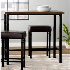 Narrow bar table Diy Image Unavailable Amazoncom Amazoncom Narrow Pub Table Set Industrial Furniture Tall Black