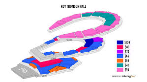 Massey Hall Concert Seating Chart Toronto Roy Thomson Hall Seating Chart Shen Yun Symphony