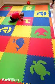 Rubber Floor Mats For Kids Create Beautiful Playroom Floors Using Softtiles Diecut Inside Simple Design