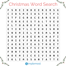 Can You Find The Christmas Themed Words Hidden In This