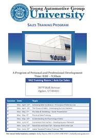 How To Develop A Sales Training Plan Sales Training Program 244 Round 24 Young Automotive Group University 10
