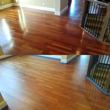 top 3 1 4 inch brazilian cherry hardwood aged with semi gloss finish bottom what it looks like after a plete sanding sealed with bona drifast