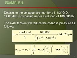 Casing Collapse Pressure Chart Drilling Engineering Casing Design