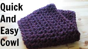 Double Crochet Scarf Patterns Stunning Quick And Easy Cowl YouTube