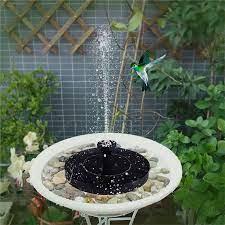 garden solar bird bath fountain pump