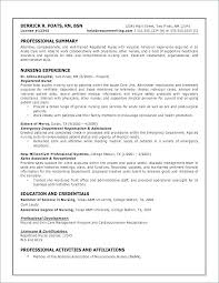 Resume Template For Registered Nurse Gorgeous Resume Template Nursing Student Example Of Unique Good Skills For