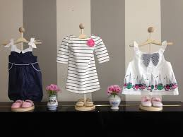 Apparel Display Stands Use stands to display baby clothes for cute decorations Showers 67