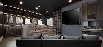 large walk in closet with led closet lighting