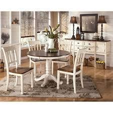 ashley whitesburg dining set. whitesburg round dining room set w/ 2 chair choices ashley c