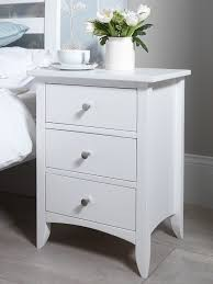 white and wood bedside table edward hopper white bedside table bedroom furniture direct