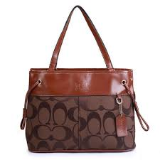 Coach Borough Logo Monogram Large Coffee Totes FBN Sale Outlet Clearance
