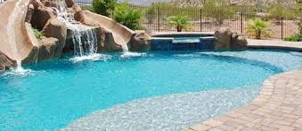 pool w builtin waterslides inground pools with waterslides68 inground